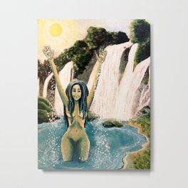 Waterfall Nymph Metal Print