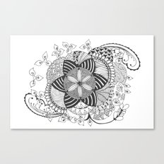Turn black and white Canvas Print