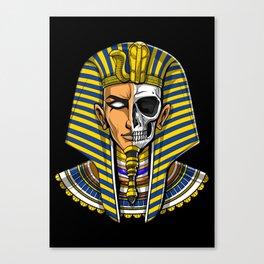 Egyptian Pharaoh Skull Canvas Print