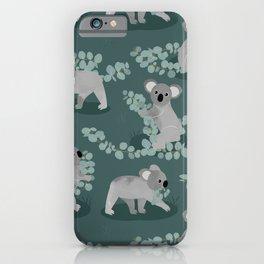 Koala Eucalyptus Hunt iPhone Case