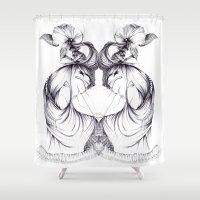 evolution Shower Curtains featuring EVOLUTION by NM Artz