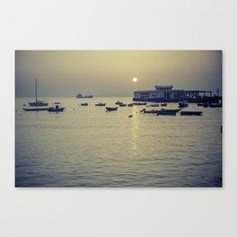Boats at Sunset - South China Sea Canvas Print