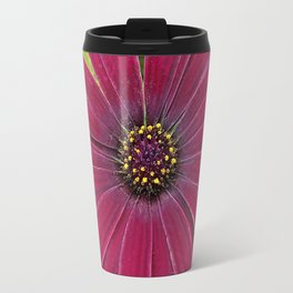 Deep red velvet African daisy -- Osteospermum flower Travel Mug