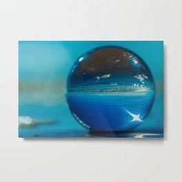 Blue Orb Metal Print