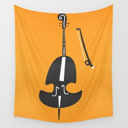 Double Bass Jazz Wall Tapestry