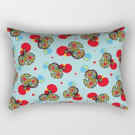 Rooster of Barcelos | Portuguese Lucky Charm Rectangular Pillow