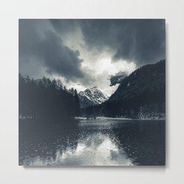 Darkness and rain at Zgornje Jezersko, Slovenia Metal Print