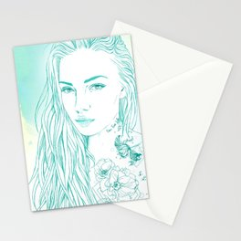 Summer tattoo Stationery Cards