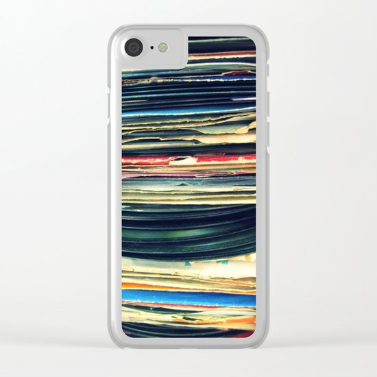 put your records on Clear iPhone Case