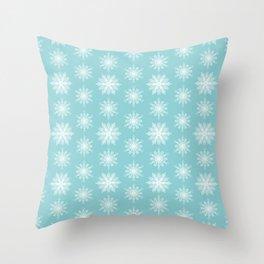 Frosty Snowflakes Throw Pillow
