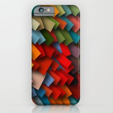 colorful rectangles with shadows iPhone 6s Slim Case