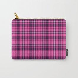 Pink & Purple Scottish Tartan Plaid Pattern Carry-All Pouch