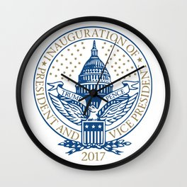 Inauguration of President Trump and Vice President Pence Logo Wall Clock