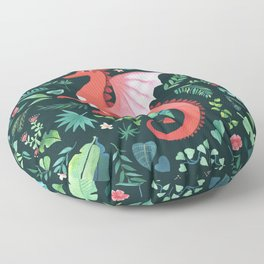Tropical Dragon Floor Pillow