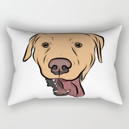 Levi the Yellow Lab Rectangular Pillow