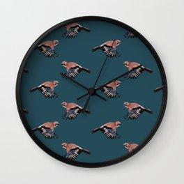 Jay on blue Wall Clock