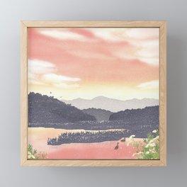 At the end of Summer | Miharu Shirahata Framed Mini Art Print