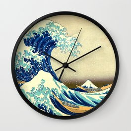 The Great Wave Off Kanagawa Katsushika Hokusai Wall Clock