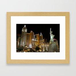 New York, New York Hotel and Casino 01 Framed Art Print