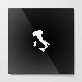 Shape of Italy Metal Print