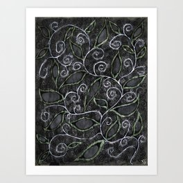 Glitter Vine Art Print