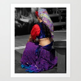 Belly Dancer Art Print