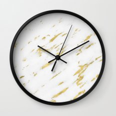 Marble - Yellow Gold Marble Design Wall Clock