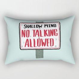No Talking Rectangular Pillow