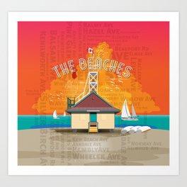The Beaches Art Print