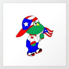 Puertorican Coqui Logo Art Print