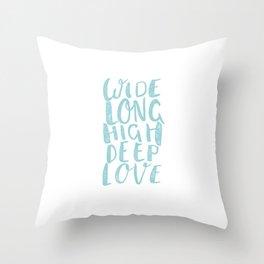 LOVE inifinite - BLUE Throw Pillow