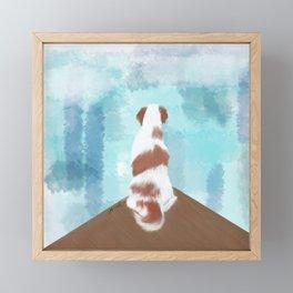 Deschutes The Brittany Spaniel Framed Mini Art Print