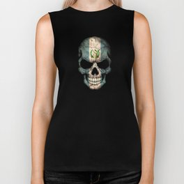 Dark Skull with Flag of Guatemala Biker Tank