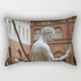 Statue in Riga Rectangular Pillow