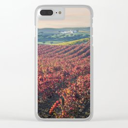 Autumnal vineyards in the Alentejo, Portugal Clear iPhone Case
