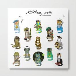 Military Cats Metal Print