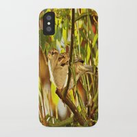 sparrow iPhone & iPod Cases featuring Sparrow by Judy Palkimas