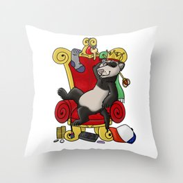 King of Thieves Throw Pillow