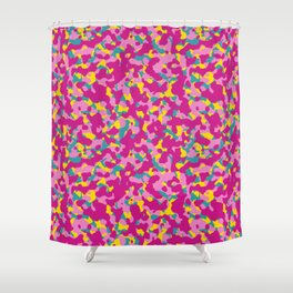 Flowerly Camouflage Shower Curtain