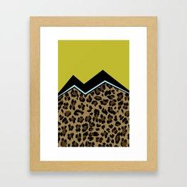 Sassy Babe - Chartreuse Framed Art Print