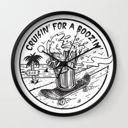 Cruisin' for a Boozin' Wall Clock