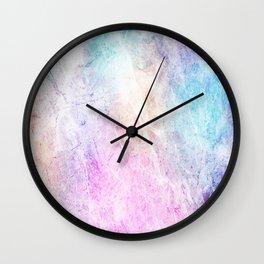 Violet Abstract Wall Clock
