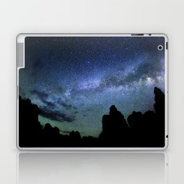 Milky Way Mountains Silhouette Laptop & iPad Skin