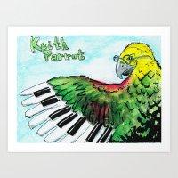 Keith Parrot Art Print