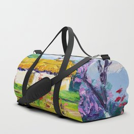 House in the village Duffle Bag