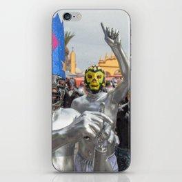 Silver Lucha Libre iPhone Skin