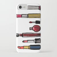 lipstick iPhone & iPod Cases featuring Lipstick by Kayla Phan
