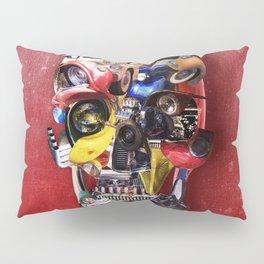 Hot Rod Skull Pillow Sham