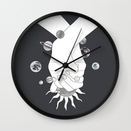 Everything Revolves Around Us II Wall Clock