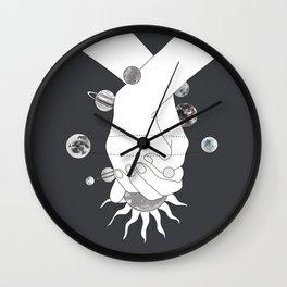 Everything Revolves Around Us II Wall Clock